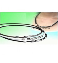 Silicone power necklace / titanium chain necklace with ion various color